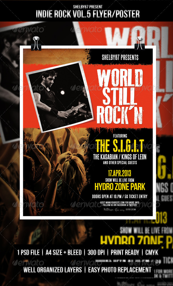 Indie Rock Flyer / Poster Vol.5 - Events Flyers