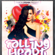 Falling Heart Party Flyer  - GraphicRiver Item for Sale