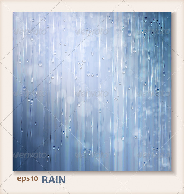 GraphicRiver Grey Shiny Rain Abstract Water Background Design 4492648