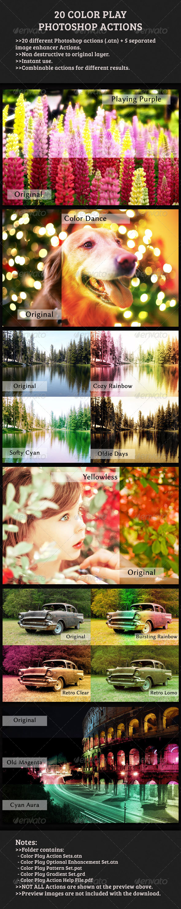 GraphicRiver 20 Color Play Photoshop Actions 4492771