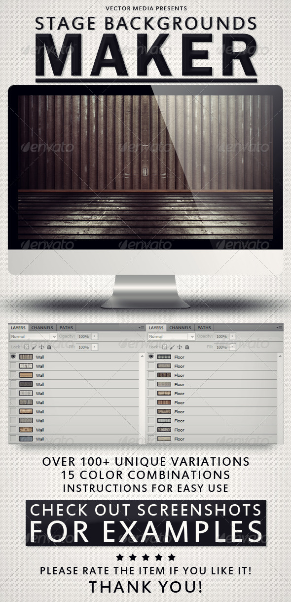 GraphicRiver Stage Backgrounds Maker 4493045