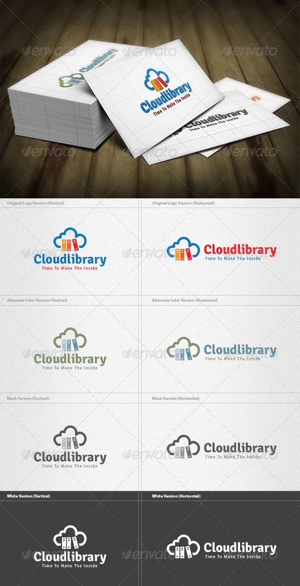 GraphicRiver Cloud Library Logo 4493075