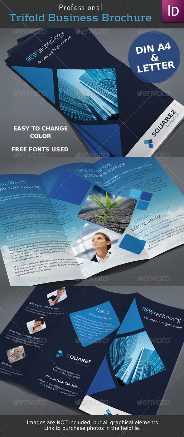 GraphicRiver Business Trifold Brochure 4493083