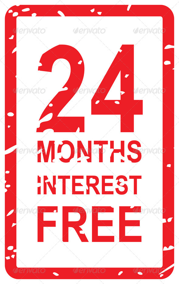 24 Months Interest Free - Stock Photo - Images