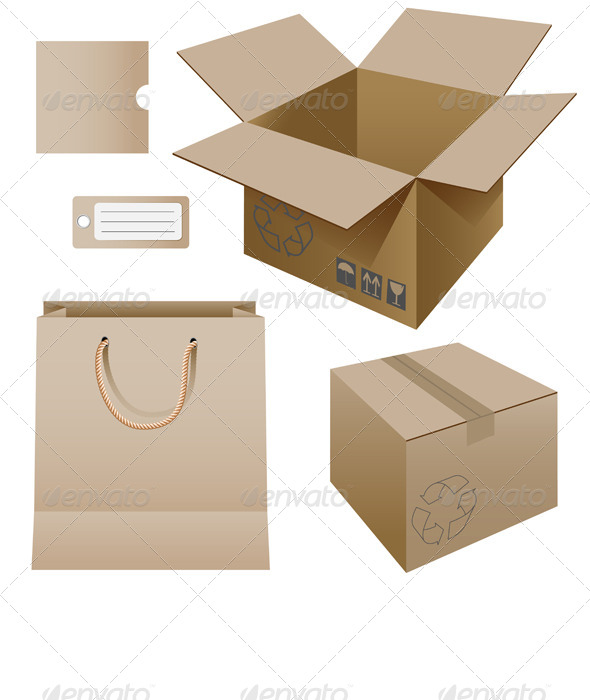 GraphicRiver Cardboard Products 4493395