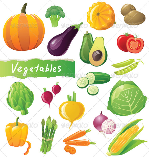 GraphicRiver Vegetables Icons Set 4493780