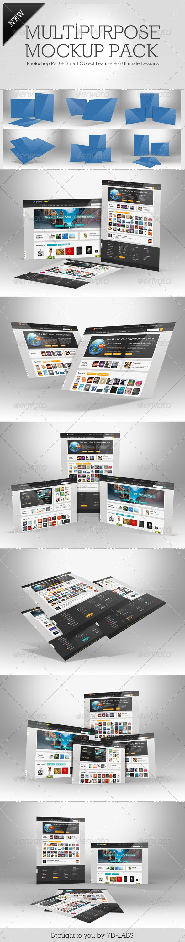 Multipurpose Mockup Pack 4 - Miscellaneous Displays