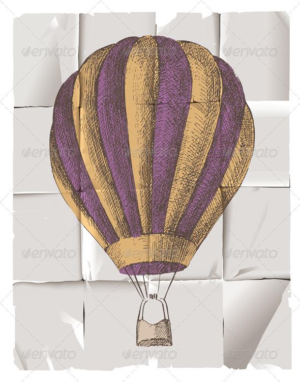 GraphicRiver Hot Air Balloon 4493797