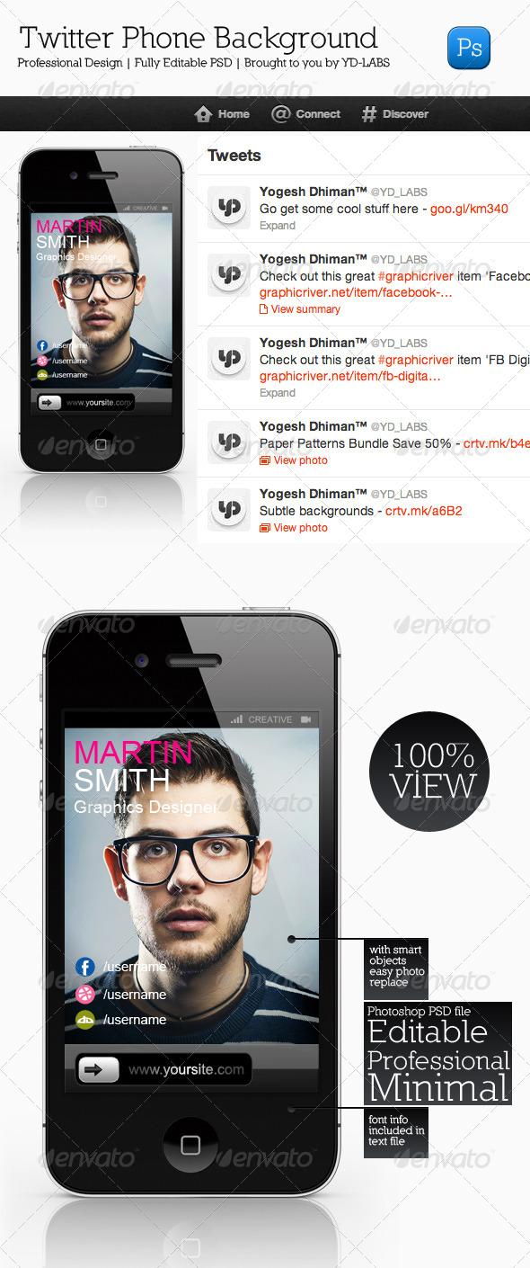 GraphicRiver Twitter Phone Background 4493809