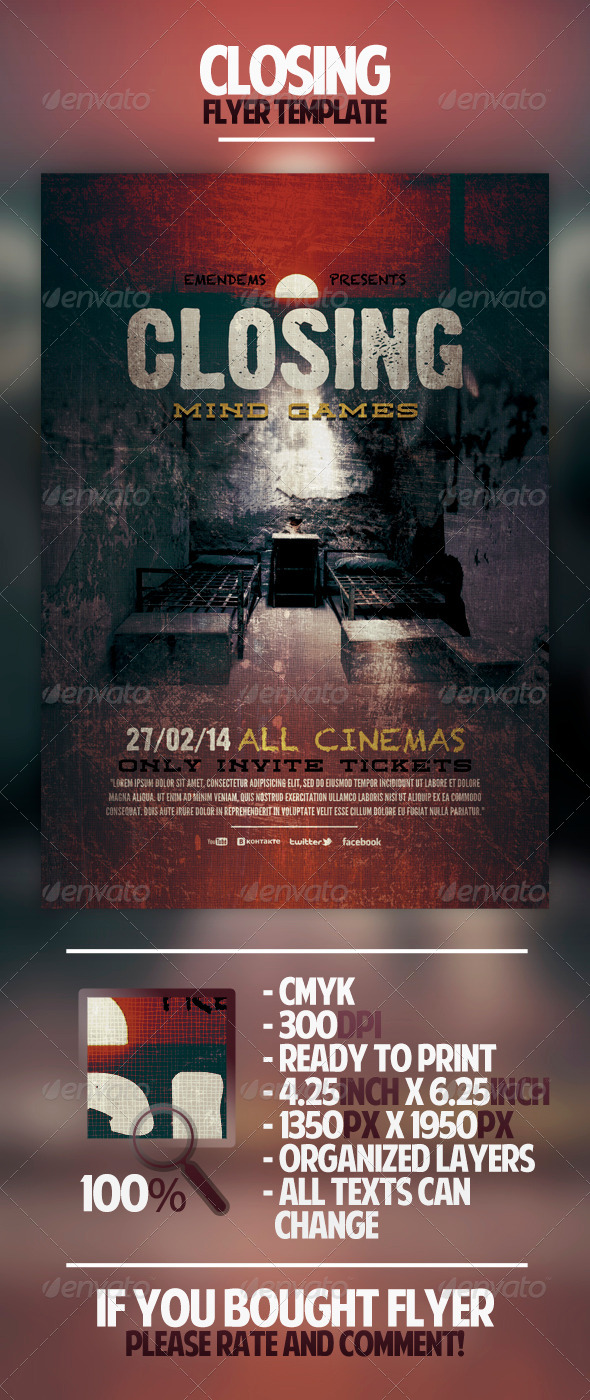 GraphicRiver Closing Flyer Template 4494089