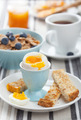 healthy breakfast with egg and cornflakes - PhotoDune Item for Sale