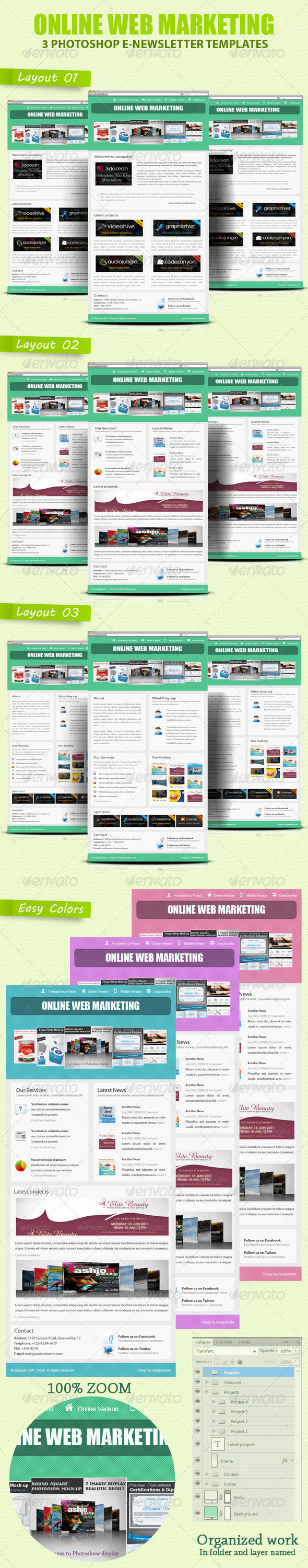 Professional Online Web Marketing - E-newsletters Web Elements