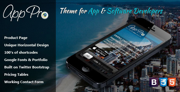 ThemeForest App Pro Theme for App & Software Developers 4396129