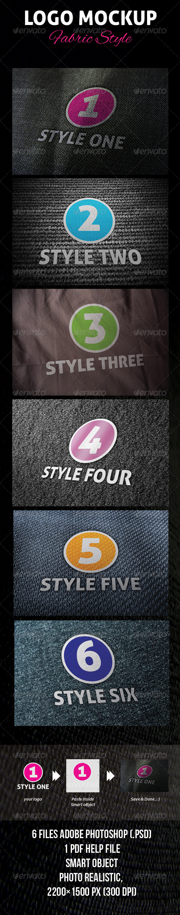 GraphicRiver Logo Mockup Fabric Style 4494972