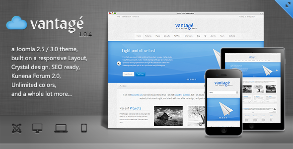 Vantage - Clean Responsive Joomla Theme - Business Corporate