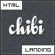 Chibi - a small blue landing page - ThemeForest Item for Sale