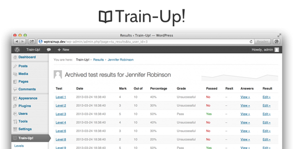 CodeCanyon Train-Up e-learning plugin for WordPress 4482792