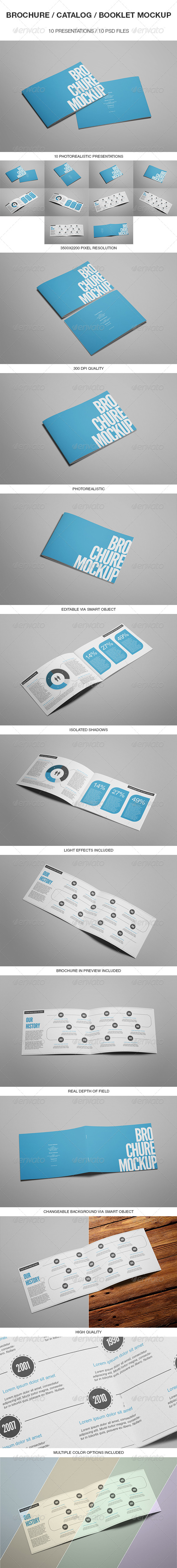 Brochure / Catalog / Booklet Mockup - Brochures Print
