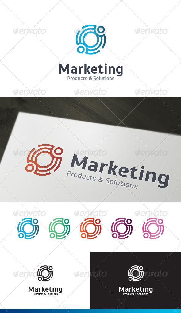 GraphicRiver Marketing Service Logo Template 4346275