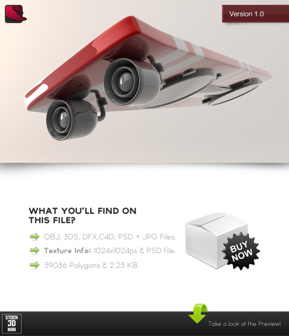 Levitating Skateboard Gadget - 3DOcean Item for Sale