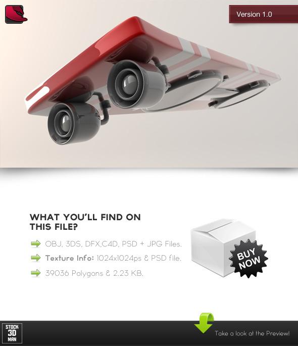 3DOcean Levitating Skateboard Gadget 476121
