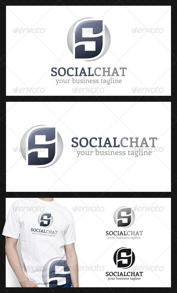 GraphicRiver Social Quotes Chat Logo Template 4495255