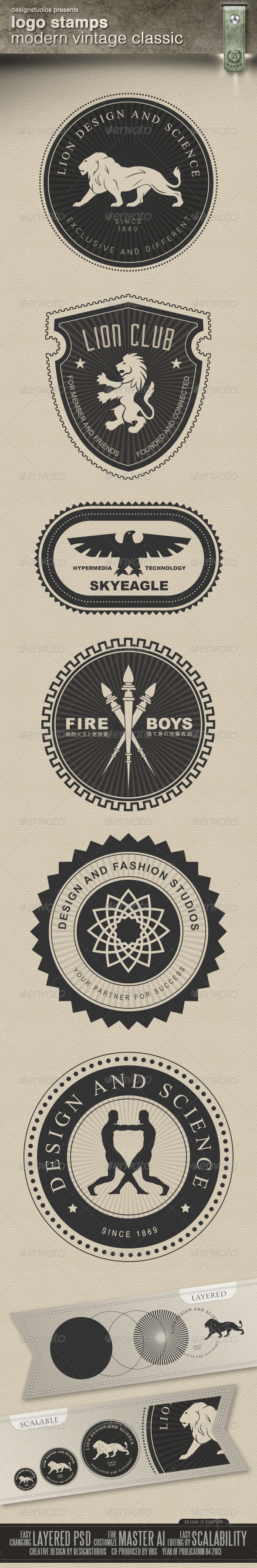GraphicRiver Logo Stamps Modern Vintage Classic 4495501
