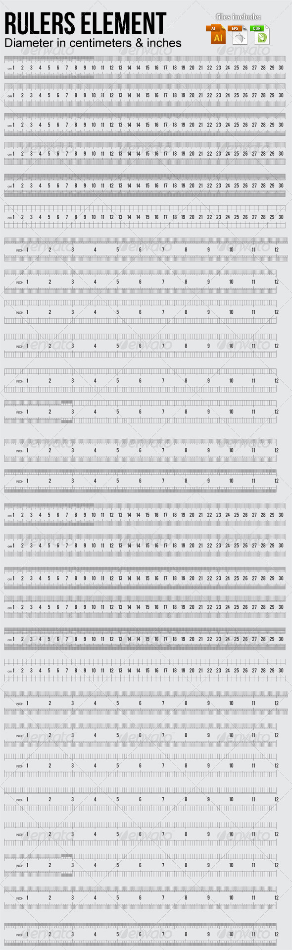 GraphicRiver Rulers Elements 4495753