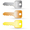 Set of house key icons. Vector illustration. - PhotoDune Item for Sale