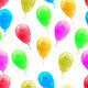Background with glossy multicolored balloons. . Seamless wallpap - PhotoDune Item for Sale