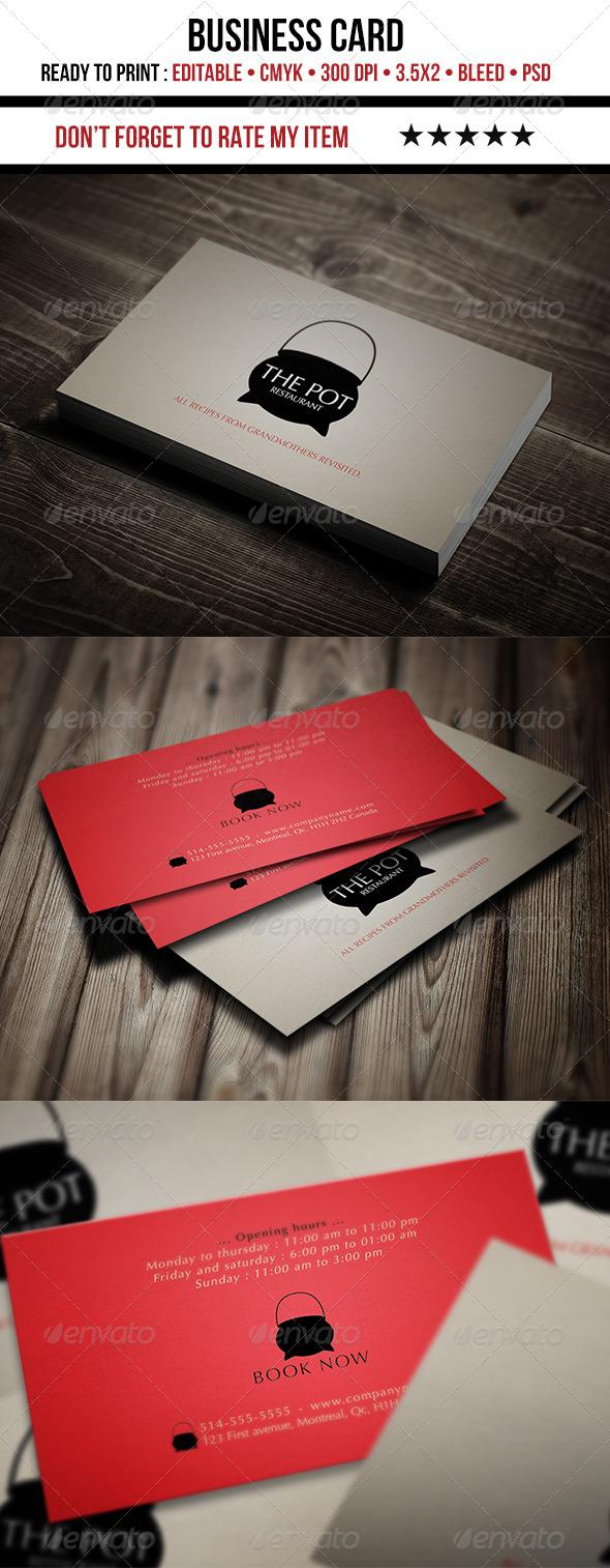 GraphicRiver Restaurant Business Card 4495802