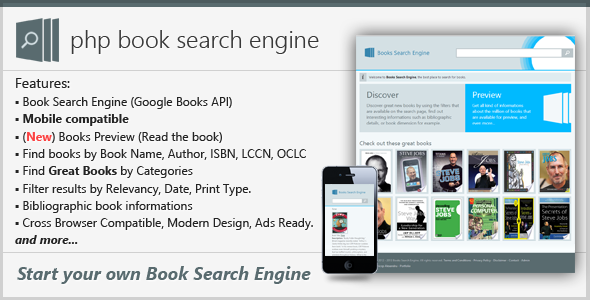PHP Book Search Engine - CodeCanyon Item for Sale