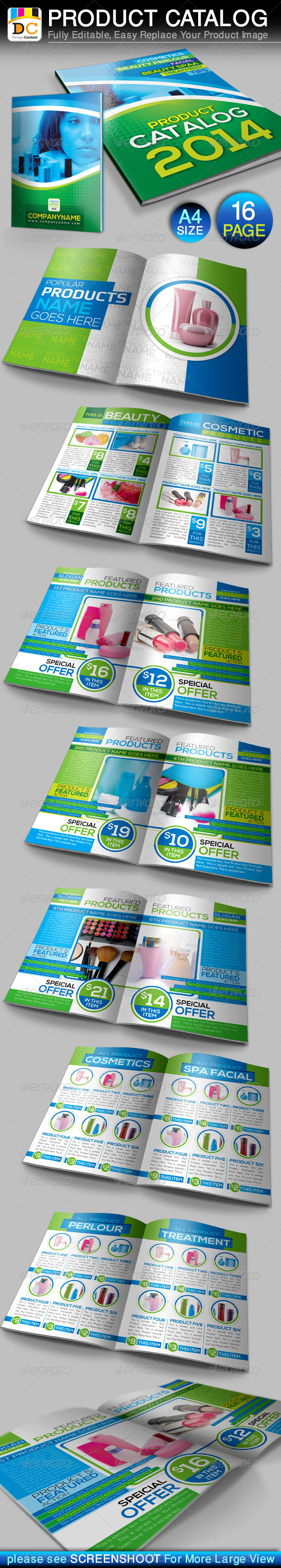 16 Pages Product Catalog Brochure Templates - Catalogs Brochures