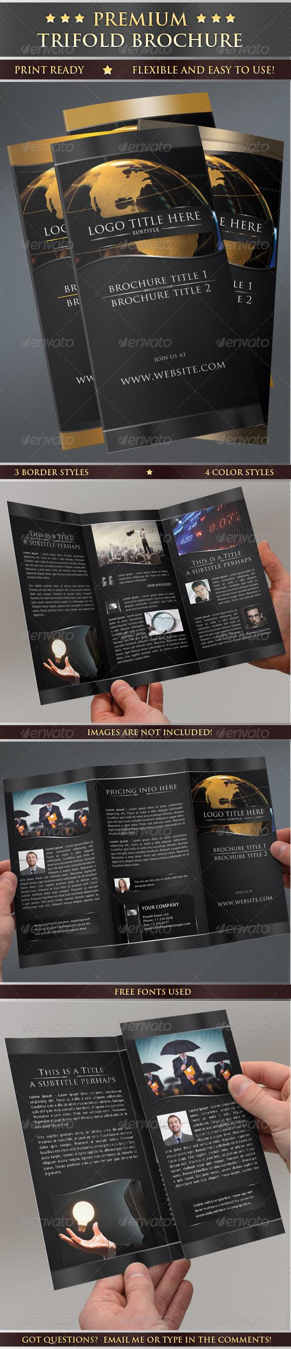 GraphicRiver Premium Print Ready Trifold Brochure 4285543