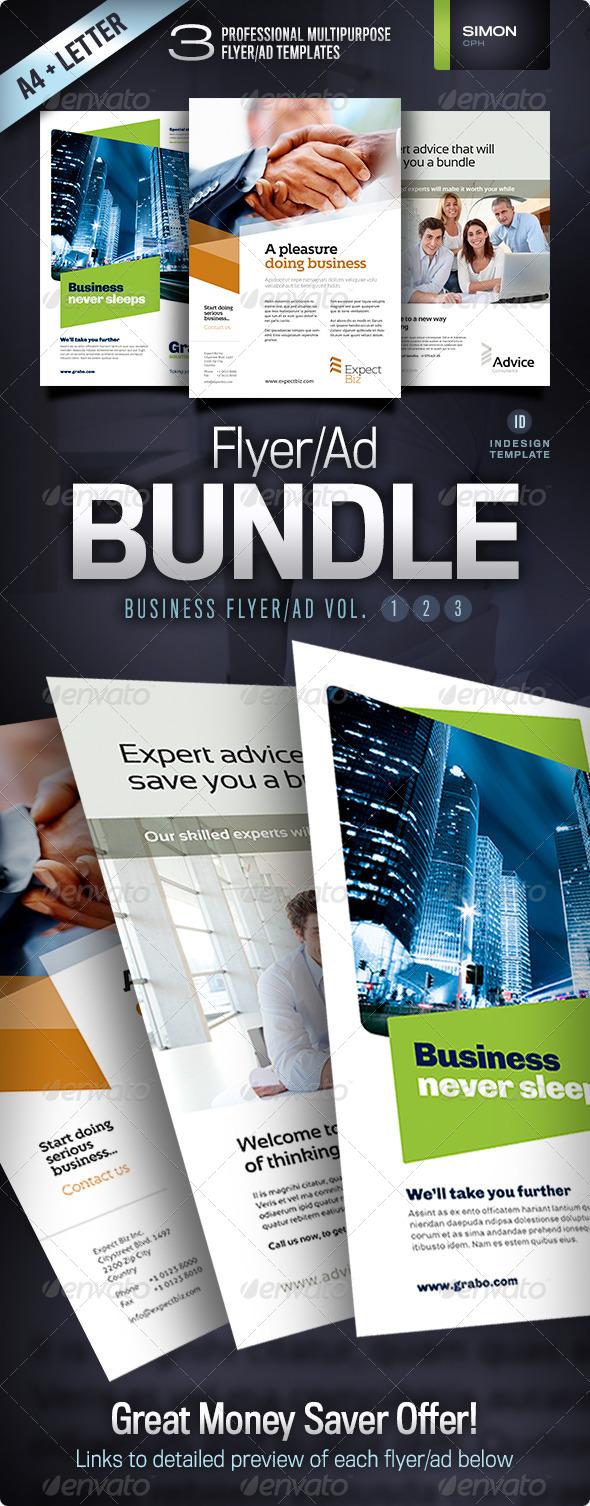GraphicRiver Business Flyer Ad Bundle Vol 1-2-3 4496092