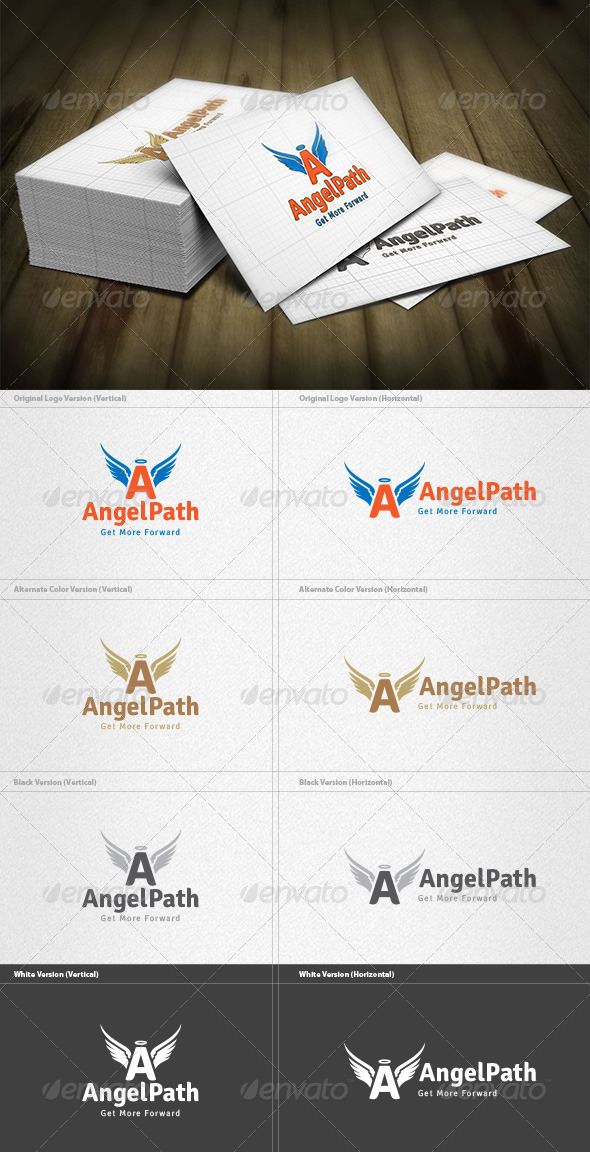 GraphicRiver Angel Path Logo 4496157