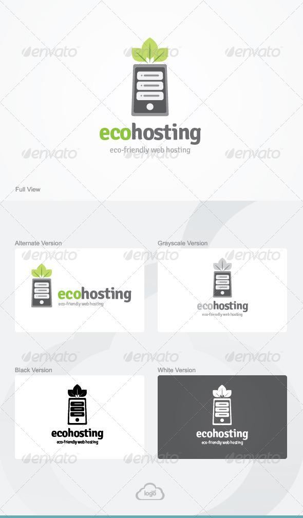 GraphicRiver Eco Hosting Logo Template 4443872