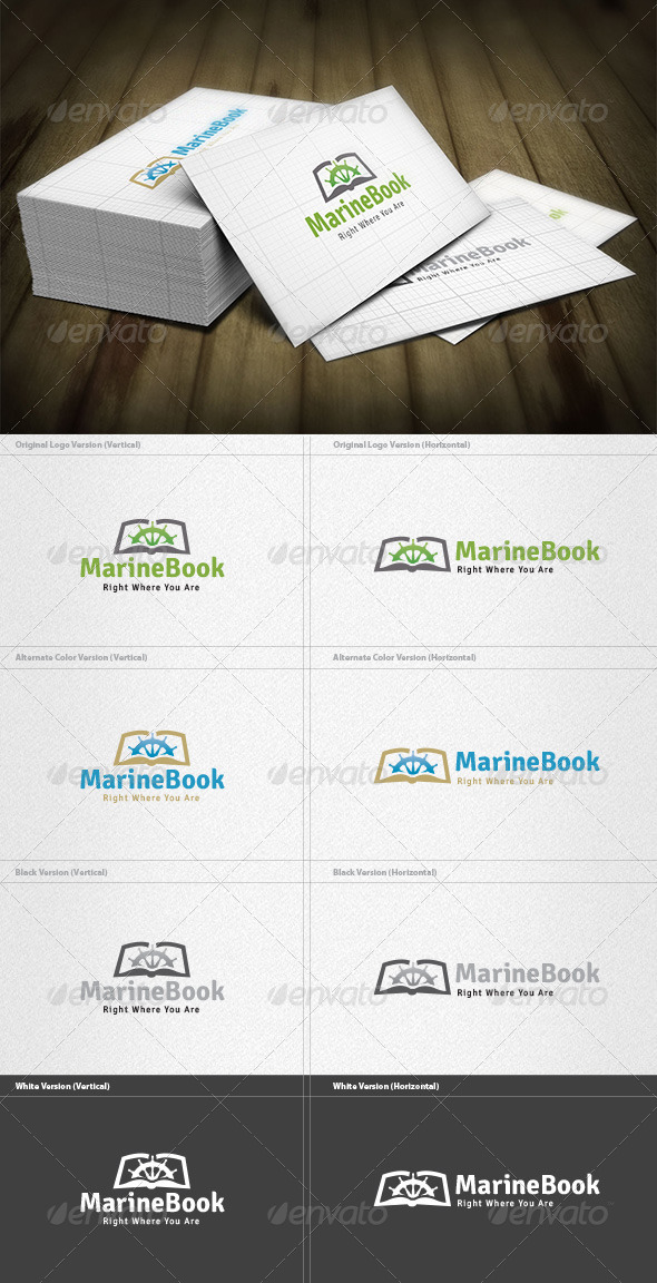 GraphicRiver Marine Book Logo 4496241