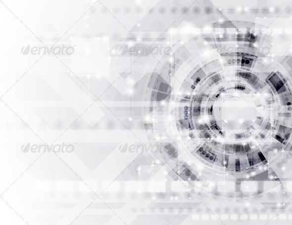 GraphicRiver Abstract Modern Technology Vector Template 4496268