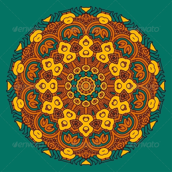 GraphicRiver Vector Round Decorative Design Element 4496300