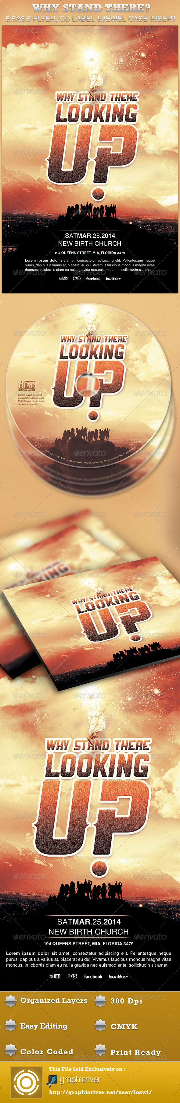 Why Stand There? Church Flyer and CD Template - Church Flyers