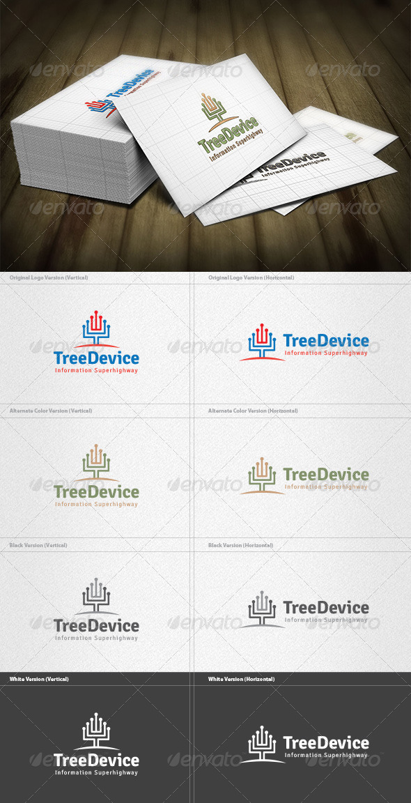 GraphicRiver Tree Device Logo 4496866