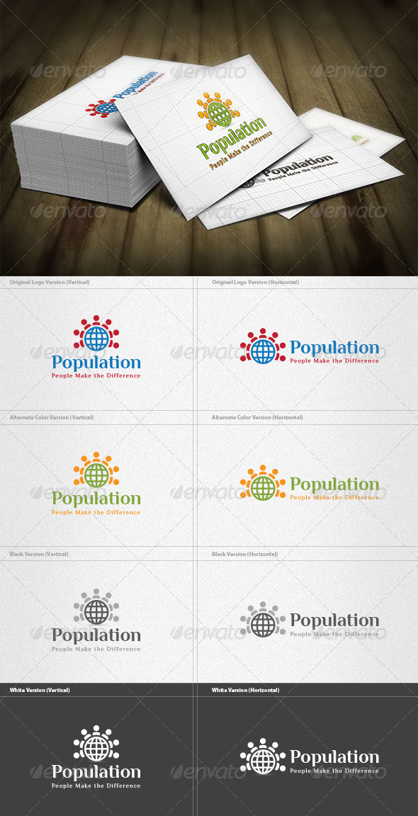 GraphicRiver World Population Logo 4496901
