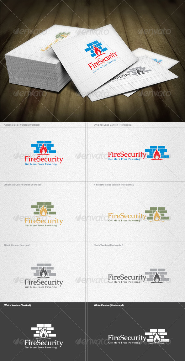 GraphicRiver Fire Wall Logo 4497004