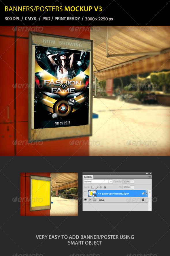GraphicRiver Banner Poster Mockup V3 4497095