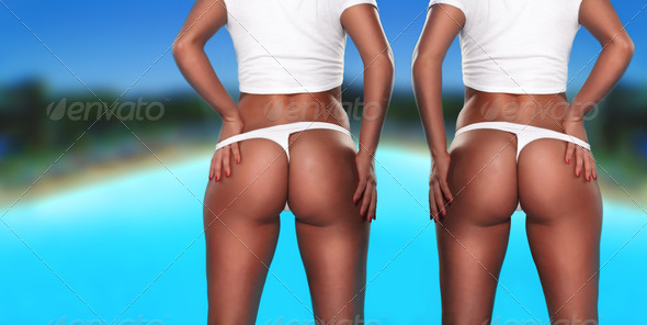 Twin sexy asses - Stock Photo - Images