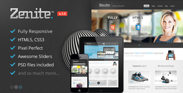 Zenite - Responsive HTML5 Template - Business Corporate