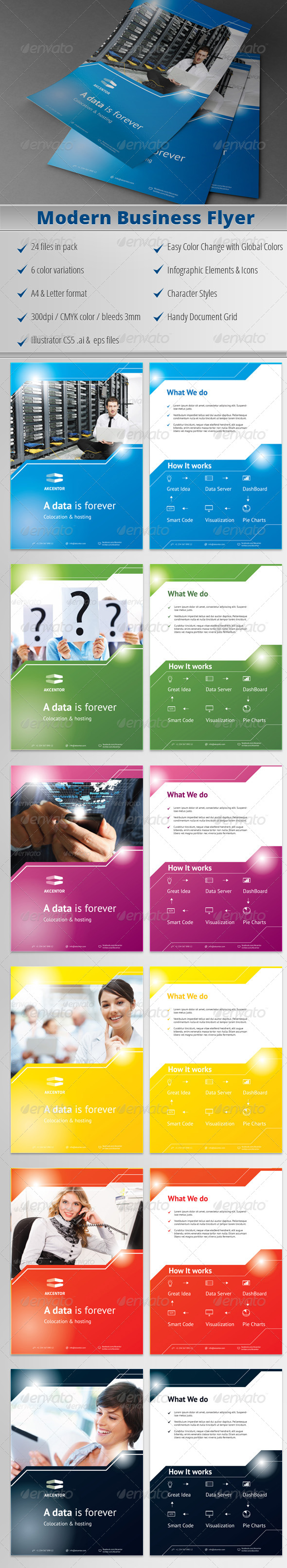 GraphicRiver Modern Business Flyer 01 4497212