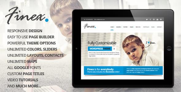 ThemeForest Finex Responsive Multi-Purpose Wordpress Theme 4497225