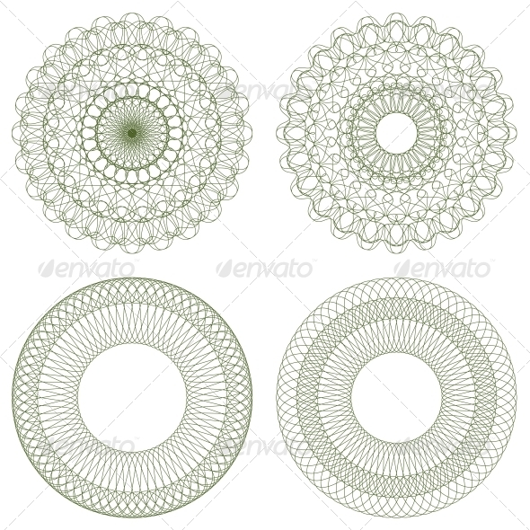 GraphicRiver Set of Vector Guilloche Rosettes 4497324